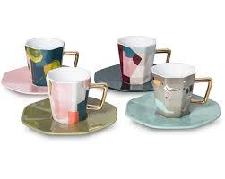 cool espresso cups astratto set of four espresso cups saucers oliver bonas