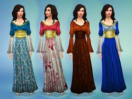 mod the sims medieval times dress ts4 medieval pinterest