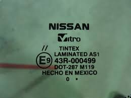 nissan mexico logo decoding your car u0027s windshield glass com