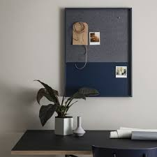 pin board frame pin board blue from ferm living