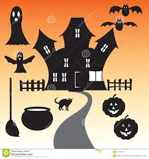 happy halloween vector happy halloween haunted house vector set stock illustration