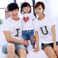 2015 summer family cotton set baby clothes set family set