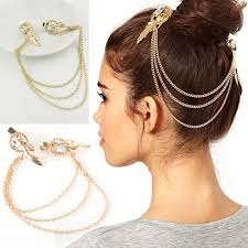 hair chains hot metal drop jewelry headband headpiece charm pearl
