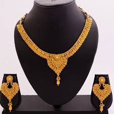yellow gold necklace set images 1 gram gold gold finish necklace set kolkata work yellow gold jpg