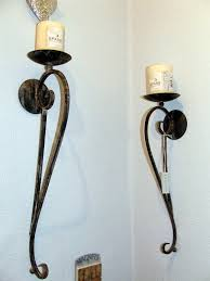Outdoor Candle Wall Sconces Outdoor Wrought Iron Candle Wall Sconces U2022 Wall Sconces