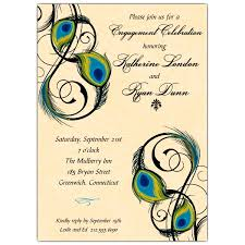 peacock invitations engagement party invitations paperstyle