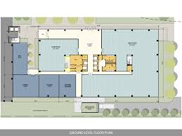 floor plan of an office ten story west belt office