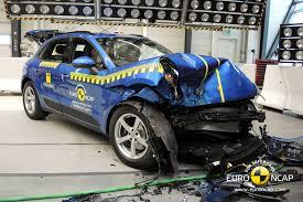 bugatti crash test porsche macan scores top rating in latest euro ncap crash test