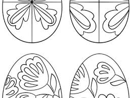 pysanky egg coloring page 35 eggs coloring page simple easter eggs coloring page free