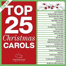 maranatha christmas top 25 christmas carols 2 cd amazon com
