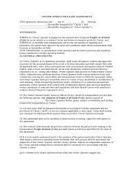 Service Contract Termination Letter Template Owner Operator Lease Agreement Form 1 Free Templates In Pdf