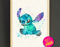 lilo stitch art etsy