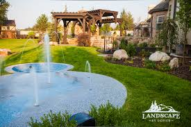 splash pad residential landscape like this idea a splash pad