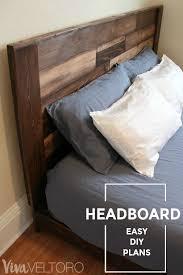 Wood Headboard Ideas Best 25 Rustic Wood Headboard Ideas On Pinterest Rustic
