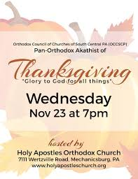 diocese of eastern pennsylvania thanksgiving akathist