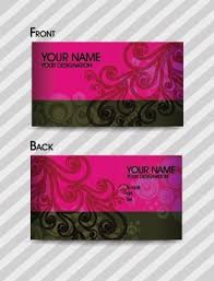 Purple Business Cards Purple Business Card Template Vector Free Vector In Coreldraw Cdr
