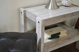 gray beach house rustic end table nightstand presearth