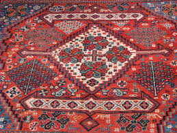 Red And Blue Persian Rug by Qashqai Antique Rugs Vintage Persian Rugs