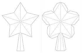Ideas For Christmas Tree Star by Paper Zen 3d Paper Star For Xmas Tree Topper Free Svg Dxf Pdf