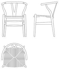 Armchair Measurements Wishbone Chair Ch24 By Hans J Wegner Carl Hansen U0026 Søn