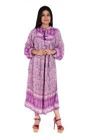 jaipuri made maxi womans and kids dress purple flower latest