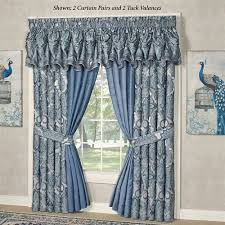 Valance Blue Arabelle Blue Tuck Valance Window Treatment