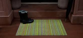 Chilewich Outdoor Rugs by Chilewich Shag Floor Mat In Skinny Stripe The Century House