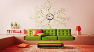 Decorating With Wallpaper by Creative Living Room Wall Clock Design Ideas Decorating With