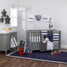 Denim Crib Bedding Disney Baby Mickey Mouse Hello World 4 Crib Bedding Set