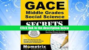 free download gace middle grades social science secrets study