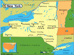 map new york state state map