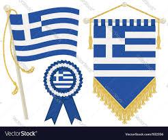 Greece Flag Colors Greece Flags Royalty Free Vector Image Vectorstock