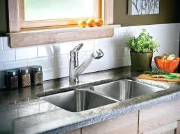 small bay window kitchen sink wood backsplash height designs guard