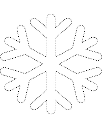 6 best images of printable snowflake tracers frozen snowflake