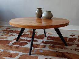 round mid century modern coffee table the right mid century