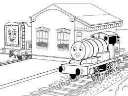 thomas train colouring pages print cartoon coloring pages