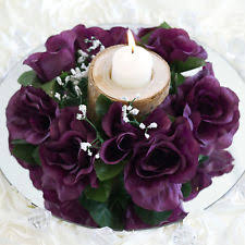 flower candle rings purple flower candle ring ebay