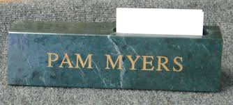 Desk Name Plates With Business Card Holder Nameplates Reynolds Rubber Stamp Co