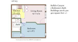 400 Sq Ft by 1br 1ba U2013 400 Sq Ft U2013 1245 1345 Buffalo Canyon