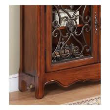 powell scroll console table powell furniture light cherry 2 door 2 drawer scroll console 411