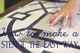 how to make a huge stencil for under 15 all things thrifty