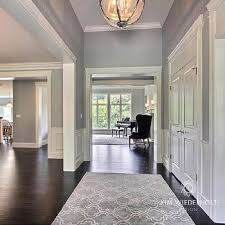 transitional entrance foyer sherwin williams light french gray