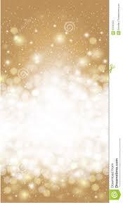 Christmas Invitation Card Shiny Blurred Gold Holiday Invitation Card Background Stock Vector