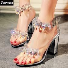 Rhinestone Sandal Heels Online Get Cheap Rhinestones Sandals Heels Silver Aliexpress Com