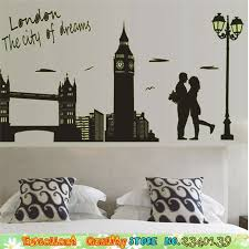 chambre pour amants romantique amant bridge city wall sticker pour