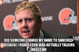 Brandon Weeden Memes - cleveland browns memes brandon weeden complimented on espn