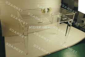 clear plastic console table lucite console table nomobveto org