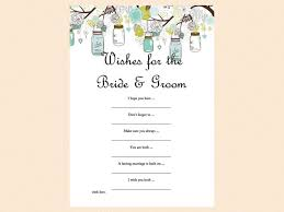 wishes for the and groom cards wishes for the and groom advice card jars bridal
