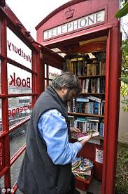 Phone Booth Bookcase The Red Phone Box That Has Become Britain U0027s Smallest Library