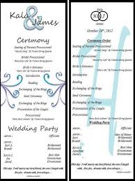 Fun Wedding Programs Templates Diy Wedding Programs Template Ideas Margusriga Baby Party